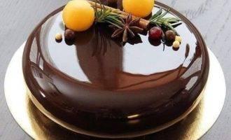 шоколадная зеркальная глазурь для торта