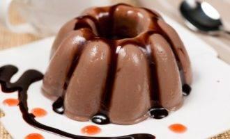 шоколадно-молочное желе