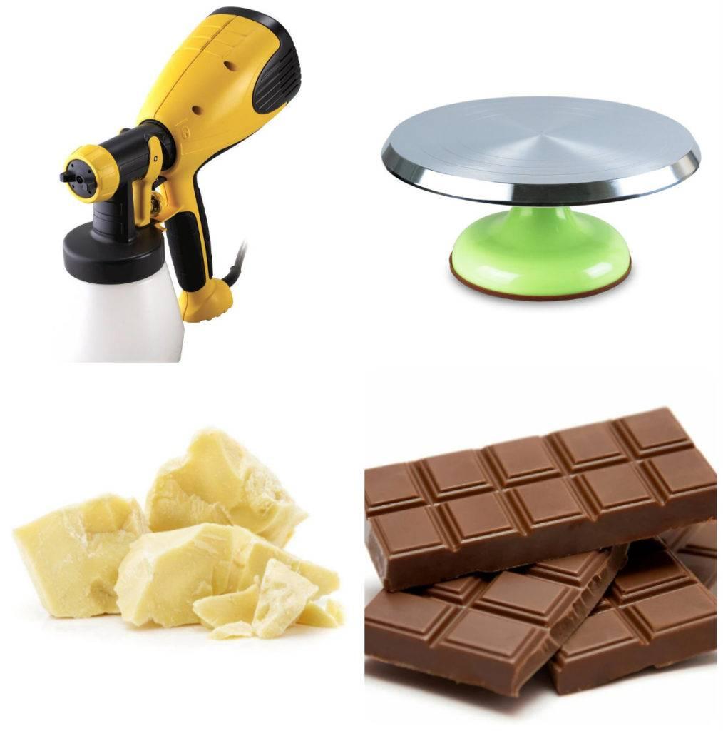 шоколадный велюр инструменты