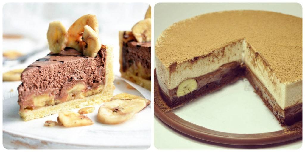 муссовый торт без выпечки с бананом