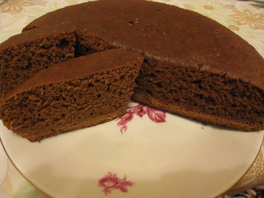 пирог с какао в мультиварке