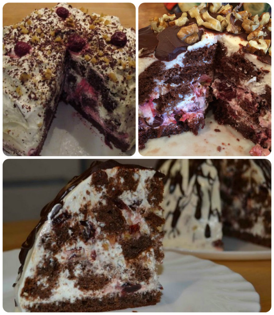 шоколадно-сметанный торт простой