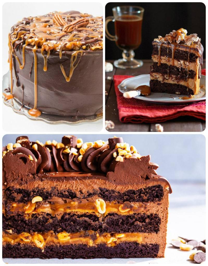ореховый торт с карамелью и шоколадом