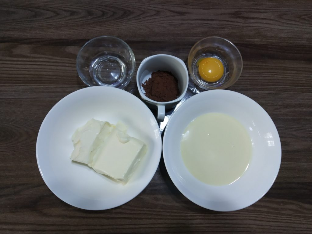 ингредиенты для молочно-сливочного крема