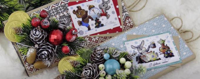 как украсить шоколадку в подарок