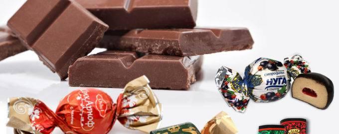 начинки шоколадных конфет