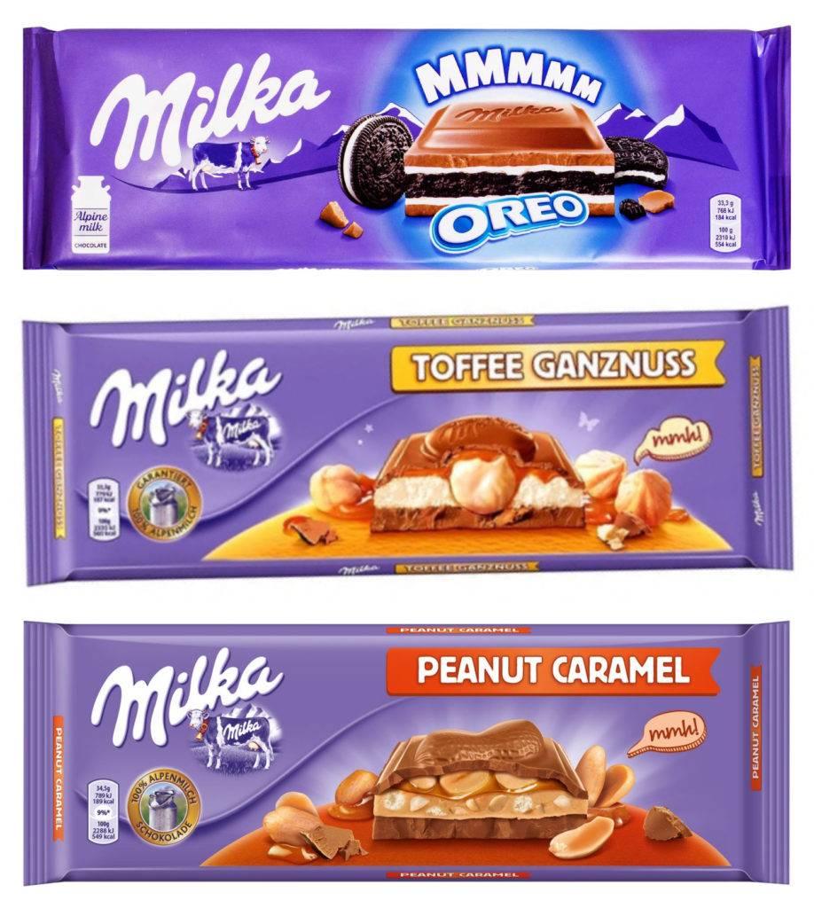 шоколад Милка большие шоколадки