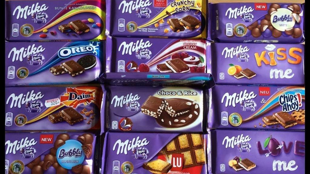 шоколад милка ассортимент